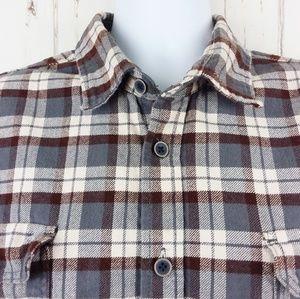 Jachs Size XL Casual Flannel Button Front Shirt